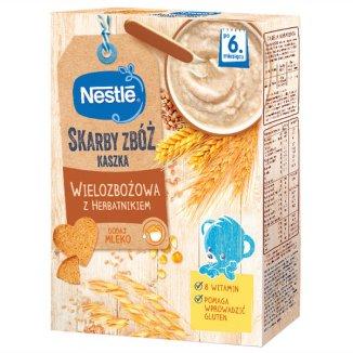 Nestle, Skarby zbóż, kaszka wielozbożowa z herbatnikiem, po 6 miesiącu, 250 g - zdjęcie produktu