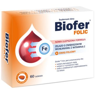 Biofer Folic, 60 tabletek - zdjęcie produktu