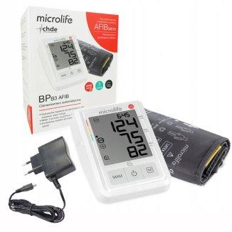 Microlife BP B3 AFIB, automatyczny ciśnieniomierz naramienny z zasilaczem - zdjęcie produktu