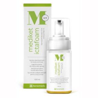 Mediket Ictafoam, pianka łagodna do mycia ciała i głowy, 100 ml - zdjęcie produktu