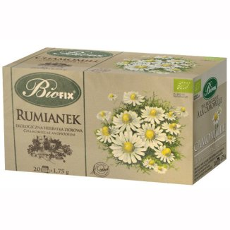Bi Fix, Rumianek, herbatka ziołowa z kwiatu rumianku, ekologiczna, 20 saszetek - zdjęcie produktu