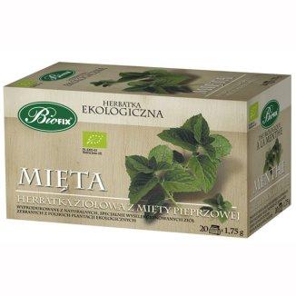 Bi Fix, Peppermint, liść mięty pieprzowej, herbatka ekologiczna, 20 saszetek - zdjęcie produktu