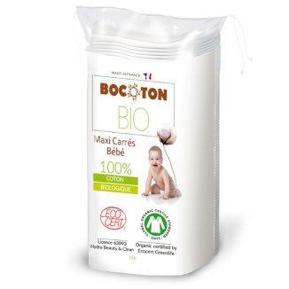 Bocoton, ekologiczne płatki kosmetyczne dla dzieci, Maxi, 60 sztuk - zdjęcie produktu