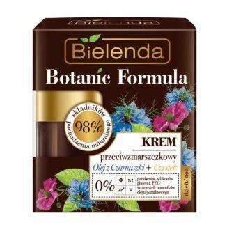 Bielenda Botanic Formula, krem przeciwzmarszczkowy, olej z czarnuszki i czystek, 50 ml - zdjęcie produktu