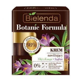 Bielenda Botanic Formula, krem nawilżający do twarzy, olej z konopi + szafran, 50 ml - zdjęcie produktu