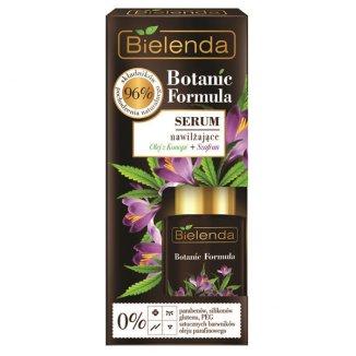 Bielenda Botanic Formula, serum nawilżające, olej z konopi + szafran, 15 ml - zdjęcie produktu