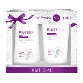 Biotebal, szampon przeciw wypadaniu włosów, 200 ml + odżywka przeciw wypadaniu włosów, 200 ml - zdjęcie produktu