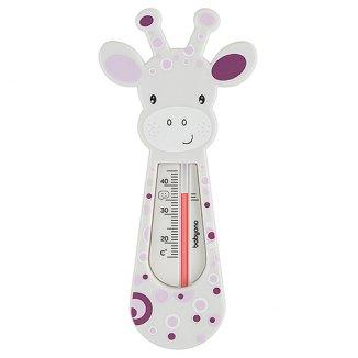 BabyOno, pływający termometr do kąpieli, żyrafa, szaro-fioletowy, 1 sztuka - zdjęcie produktu