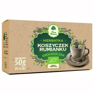 Dary Natury Koszyczek rumianku, herbatka ekologiczna, 2 g x 25 saszetek - zdjęcie produktu
