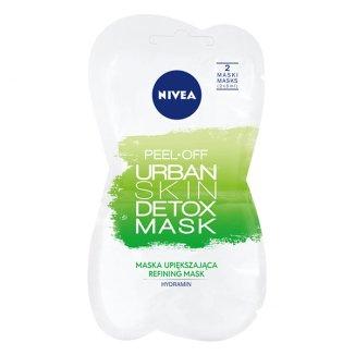 Nivea Urban Skin Detoks, maska upiększająca peel-off, 2 x 5 ml - zdjęcie produktu