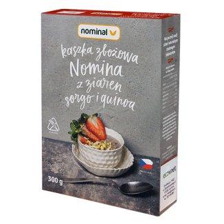Nominal, kaszka zbożowa z ziaren sorgo i quinoa, bezglutenowa, 300 g - zdjęcie produktu