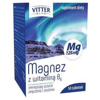 Vitter Blue Magnesium с витамином B6, 50 таблеток - фото продукта