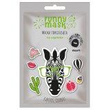 Marion Funny Mask, maska tonizująca do twarzy na tkaninie, Zebra, 1 sztuka KRÓTKA DATA - miniaturka zdjęcia produktu