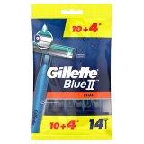 Gillette Blue II Plus, maszynki do golenia jednorazowe, 10 sztuk + 4 sztuki - miniaturka zdjęcia produktu