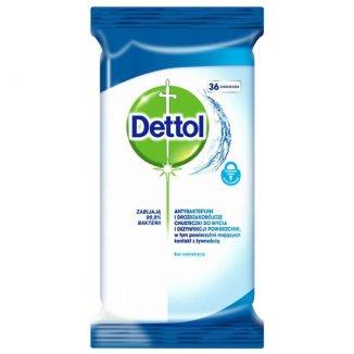 Dettol, antybakteryjne i drożdżakobójcze chusteczki do mycia i dezynfekcji powierzchni, 36 sztuk - zdjęcie produktu