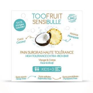 Toofruit, kostka dermatologiczna, ananas i kokos, 85 g - zdjęcie produktu