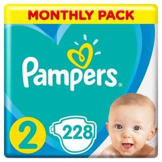 Pampers Active Baby, pieluchy, rozmiar 2, 4-8 kg, 3 x 76 sztuk - zdjęcie produktu