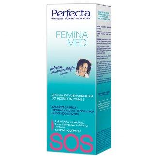 DAX Perfecta Femina Med, emulsja do higieny intymnej, łagodząca przy nawracających infekcjach dróg moczowych, 250 ml - zdjęcie produktu