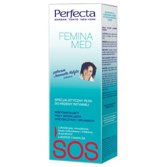 DAX Perfecta Femina Med, specjalistyczny płyn do higieny intymnej, wspomagający przy infekcjach grzybiczych i upławach, 250 ml - zdjęcie produktu