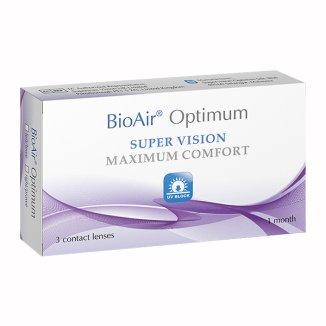 Soczewki kontaktowe BioAir Optimum, 30-dniowe, -2.25, 3 sztuki - zdjęcie produktu