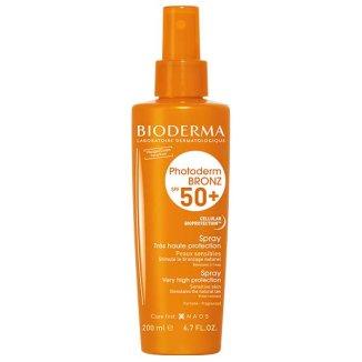 Bioderma Photoderm Bronz, spray przyspieszający opalanie, ochronny, SPF50+, 200 ml - zdjęcie produktu