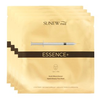 SunewMed Essence+, maska hybrydowa na tkaninie z peptydami i śluzem ślimaka, 4 sztuki - zdjęcie produktu