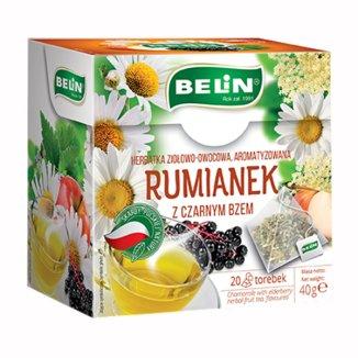 Belin Rumianek z czarnym bzem, herbatka ziołowo-owocowa, aromatyzowana, 2 g x 20 saszetek - zdjęcie produktu