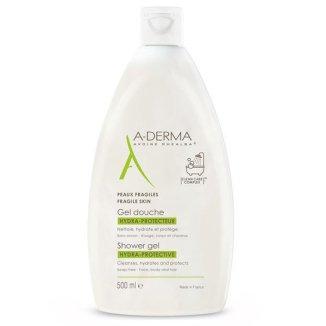A-Derma Hydra, ochronny żel pod prysznic, skóra sucha i wrażliwa, 500 ml - zdjęcie produktu