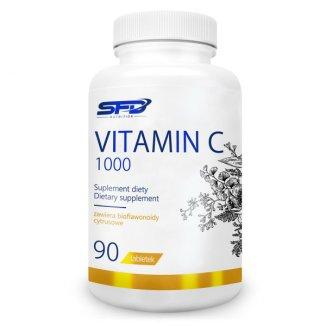 SFD Vitamin C 1000, witamina C + bioflawonoidy cytrusowe, 90 tabletek - zdjęcie produktu