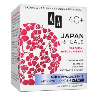AA Japan Rituals, krem na noc, multi wygładzający 40 +, 50 ml - zdjęcie produktu