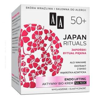 AA Japan Rituals, krem na noc, endo lifting 50 +, 50 ml - zdjęcie produktu