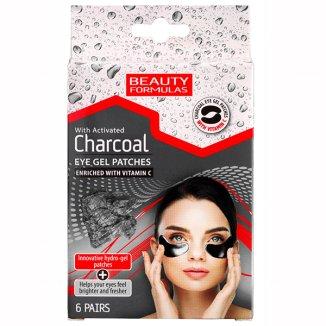 Beauty Formulas, żelowe płatki pod oczy z aktywnym węglem, 12 sztuk - zdjęcie produktu
