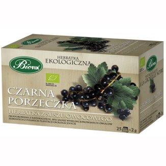 Bi Fix, Czarna Porzeczka, owocowa herbatka ekologiczna, 25 saszetek - zdjęcie produktu