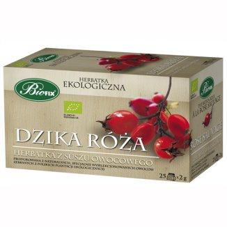 Bi Fix, Dzika Róża, herbatka ekologiczna z suszu owocowego, 25 saszetek - zdjęcie produktu