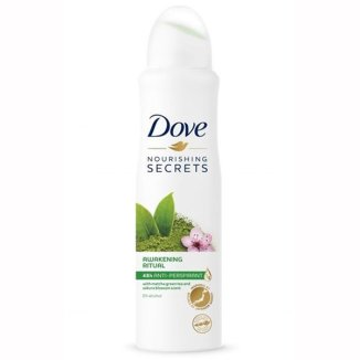 Dove Nourishing Secrets, antyperspirant w sprayu, Matcha Green Tea and Sakura, 150 ml - zdjęcie produktu