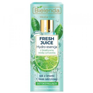 Bielenda Fresh Juice, detoksykująca hydro-esencja do pielęgnacji twarzy, limonka, 110 ml - zdjęcie produktu