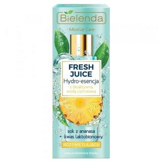 Bielenda Fresh Juice, rozświetlająca hydro-esencja do pielęgnacji twarzy, ananas, 110 ml - zdjęcie produktu