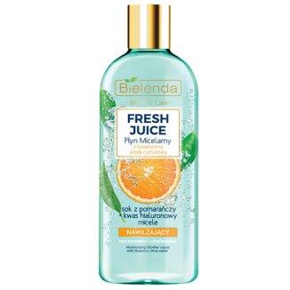 Bielenda Fresh Juice, nawilżający płyn micelarny, pomarańcza, 500 ml - zdjęcie produktu