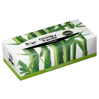 The Cheeky Panda, chusteczki bambusowe w pudełku, 80 sztuk - zdjęcie produktu