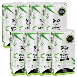 The Cheeky Panda, chusteczki bambusowe, higieniczne, kieszonkowe, 8 opakowań x 10 sztuk - zdjęcie produktu