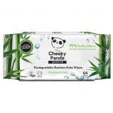 The Cheeky Panda, chusteczki nawilżane bambusowe, dla dzieci, biodegradowalne, 64 sztuki - miniaturka zdjęcia produktu