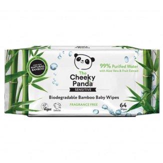 The Cheeky Panda, chusteczki nawilżane bambusowe, dla dzieci, biodegradowalne, 64 sztuki - zdjęcie produktu