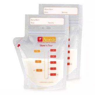 AbakusBaby, torebki do przechowywania pokarmu matki, zestaw podstawowy, 20 sztuk - zdjęcie produktu