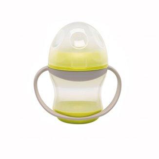 AbakusBaby, kubek niekapek z miękkim ustnikiem, od 6 miesiąca, żółty, 180 ml - zdjęcie produktu