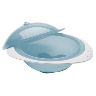 AbakusBaby, miseczka z przykrywką, niebieska, 1 sztuka - zdjęcie produktu