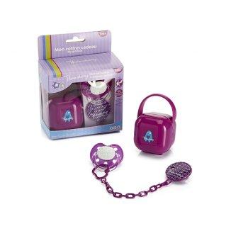 AbakusBaby, zestaw Monster, smoczek z łańcuszkiem i pudełkiem, rozmiar 2, od 3 miesiąca - zdjęcie produktu