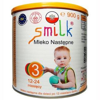 Smilk 3, mleko następne, dla dzieci w wieku 12-24 miesięcy, Proszek, 900 g - zdjęcie produktu