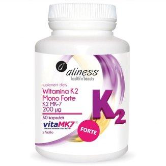 Aliness Witamina K2 MK-7 Mono Forte 200 µg, 60 kapsułek - zdjęcie produktu