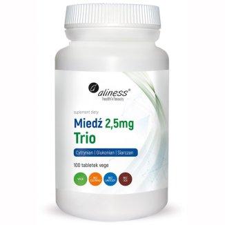 Aliness Miedź 2,5 mg Trio, 100 tabletek vege - zdjęcie produktu