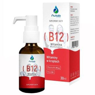 Avitale Witamina B12 200 µg , krople, 30 ml - zdjęcie produktu
